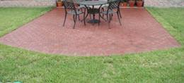 small patio area paved with pavers