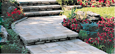concrete paver stepping stones