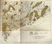 Map Showing the Distribution of Granite and Related Rocks in Maine - 1922