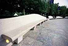 Marble Pavers and Bench